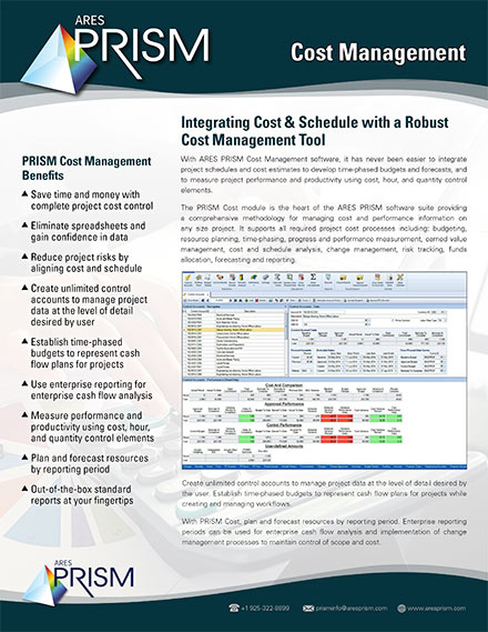 Download Cost Management Datasheet