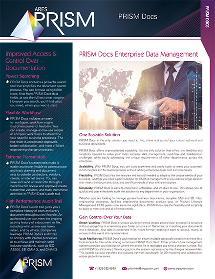 Go to PRISM Docs datasheet download