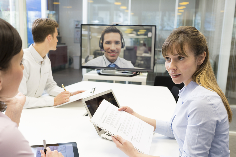 image of video conference