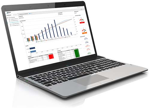 laptop image with PRISM dashboard